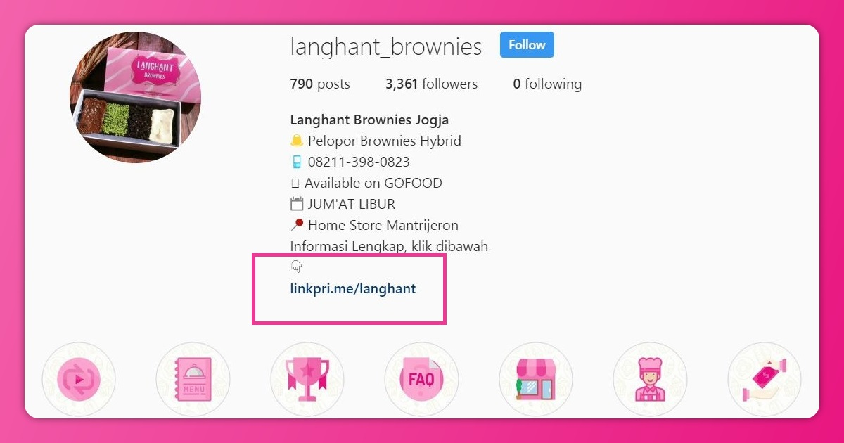 link bio instagram