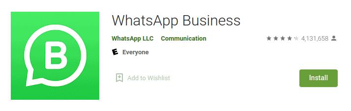 whatsapp business playstore
